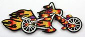 Flaming Bike - Embroidered Patch